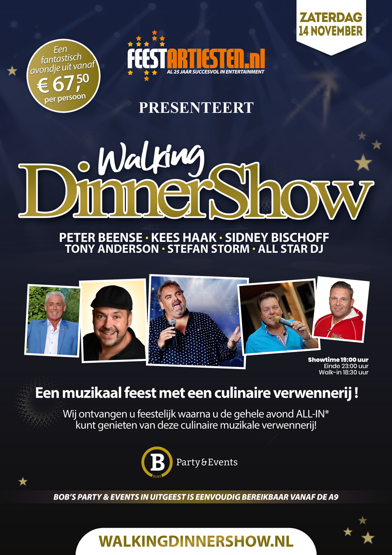 14 november Walking Dinnershow Uitgeest.